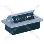 Pop-up AV Combination Plate With Jack Sockets & Phono Sockets