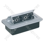 Pop-up AV Combination Plate with Jack Sockets & 4 Pole Sockets