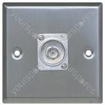 Metal AV Wall Plate with BNC Socket