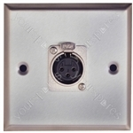 Metal AV Wall Plate with XLR Socket