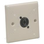 AV Wall Plate With 1 x Speakon  NL4MP) Speaker Connector