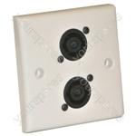 AV Wall Plate With 2 x Speakon  NL4MP) Speaker Connector