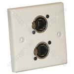 AV Wall Plate With 2 x Ethercon Socket(NE8FDV)