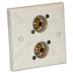 AV Wall Plate With 2 x Phono Socket (NF2D-0)