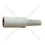 5 Pin 360 Degree In Line Din Socket