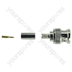 BNC Crimp Type Line Plug 75 Ohm