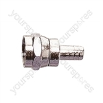 F Type Solderless Crimp Type Plug For RG58 Cable