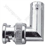 BNC Right Angled Coupler with Gold Plated Pin Contact (Female/Male) 50 Ohm