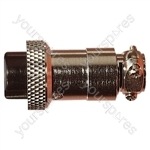 Multi Contact Line Socket with Cable Grip and Solder Terminals - Number of Contacts 4