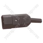 3 Pin High Quality IEC Line Plug 10A