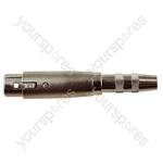 3 Pin XLR Female to 6.35 mm Stereo Socket Adaptor