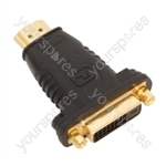 HDMI Plug to DVID Socket Adaptor