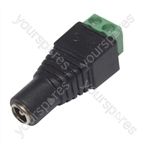 CCTV Camera 2.1mm DC Line socket With Screw Terminals