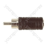 Phono Plug to 3.5 mm Mono Socket Adaptor