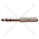 6.35 mm Stereo Plug to 3.5 mm Mono Socket Adaptor