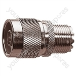 N-Type Plug to UHF Socket Radio-Frequency Adaptor