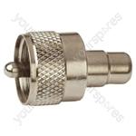UHF Plug to Phono Socket Radio Frequency Adaptor