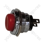 Round Metal Push to Make Button - Colour Red