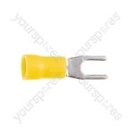 Spade Crimp Terminal - Colour Yellow