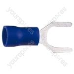 Spade Crimp Terminal - Colour Blue