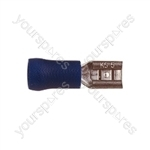 Push On Receptacle Crimp Terminal - Colour Blue