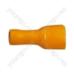 Push On Shrouded Receptacle Crimp Terminal - Colour Yellow