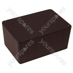 Shatter proof ABS Project Box with Screws Black