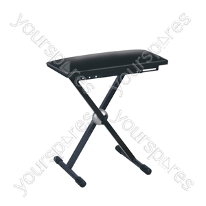 Height Adjustable Keyboard Stool with Fold Away Legs