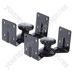 Knuckle Type Swivel Speaker Wall Brackets (2)