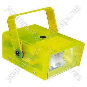 FX LAB Blue 14 W Plastic Mini Strobe - Colour Yellow