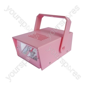 Cheetah Battery Operated LED Mini Strobe - Colour Pink