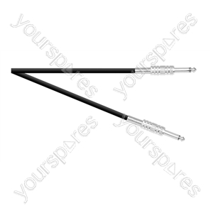 Standard 6.35 mm Jack Plug to 6.35 mm Jack Plug Speaker Leads With Metal Jacks and 2x 0.75mm Cable - Lead Length (m) 6