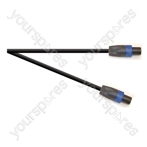 Professional 4 Pole Speakon Plug to 4 Pole Speakon Plug Speaker Lead With 2x 1.5mmHighflex Cable - Lead Length (m) 10