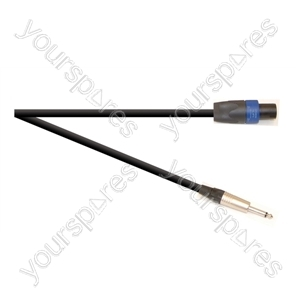 Professional 6.35 mm Jack Plug to 4 Pole Speakon Plug Speaker Lead With Neutrik Connectors and 2x 1.5mm Highflex Cable - Lead Length (m) 3