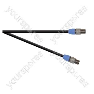 Professional 2 Pole Speakon Plug to 2 Pole Speakon Plug  Speaker Lead 2x 1.5mm Highflex Cable - Length (m) 3