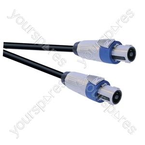 Professional 4 Pole Metal Speakon Plug to 4 Pole Metal Speakon Plug Speaker Lead 4x2.5mm Highflex Cable - Lead Length (m) 1