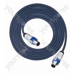 Professional 4 Pole Metal Speakon Plug to 4 Pole Metal Speakon Plug Speaker Lead 4x2.5mm Highflex Cable - Lead Length (m) 15