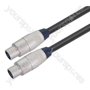 Professional 8 Pole Metal Speakon Plug to 8 Pole Metal Speakon Plug Speaker Lead with Neutrik Connectors and 8x 1.5mm Highflex Cable - Lead Length (m) 2.5