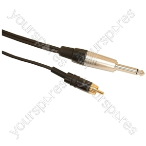 Professional 6.35mm Neutrik Mono Jack Plug to Rean Phono Plug Screened Lead