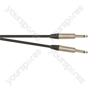 Professional 6.35 mm Mono Jack Plug 6.35 mm Mono Jack Plug Screened Patch Lead With Neutrik Connectors 1m - Colour Black