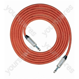 Professional 6.35 mm Mono Jack Plug 6.35 mm Mono Jack Plug Screened Patch Lead With Neutrik Connectors 1m - Colour Red