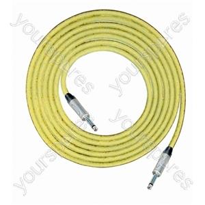 Professional 6.35 mm Mono Jack Plug 6.35 mm Mono Jack Plug Screened Patch Lead With Neutrik Connectors 1m - Colour Yellow
