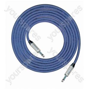Professional 6.35 mm Mono Jack Plug 6.35 mm Mono Jack Plug Screened Patch Lead With Neutrik Connectors 1m - Colour Blue