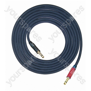 Professional Silent Guitar Lead with Neutrik Connectors, Gold Plated Contacts and European Cable - Lead Length (m) 6
