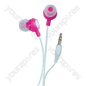 Bud Type Digital Stereo Earphones - Colour Perfectly Pink