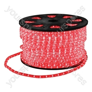 Eagle Static LED Rope Light Kit With Wiring Accessories Kit 90m - Colour Red