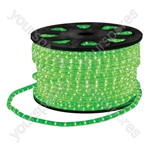 Eagle Static LED Rope Light Kit With Wiring Accessories Kit 90m - Colour Green