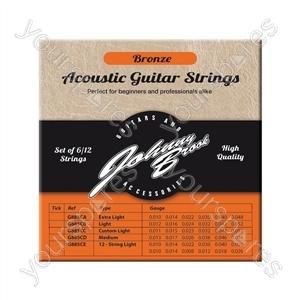 Johnny Brook Bronze Acoustic Guitar Strings Set of 6 - Gauge .012/.016/.024/.032/.042/.052