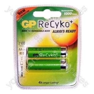 GP ReCyko Rechargeable Batteries - Type AA