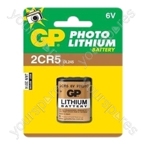 GP Batteries 2CR5-C1 Lithium Cylindrical Battery (Card Of One)